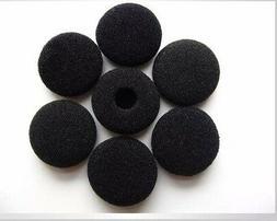 10 Pairs 13-18mm Black  Foam Cushion Ear Pad Cover Earphone