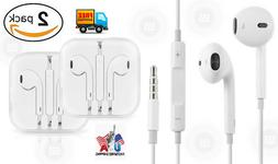 2 Pack Lot A Grade Earphones for iPhone 6 6S 5 5S 4 4S & And