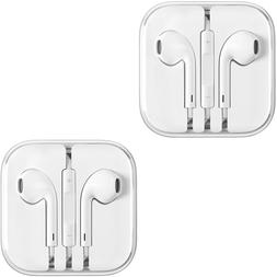 2PCS New Generic Earphones Earbuds With Remote and Mic for A
