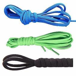 3 Pairs Shoelaces CaseHQ Flat Shoe Laces 52 inch Strings Fla