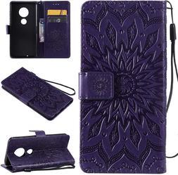 Cmeka 3D Sunflower Wallet Case for Motorola Moto G7  S