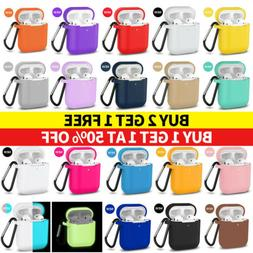 AirPods Silicone Case + Keychain Protective Cover Skin For N