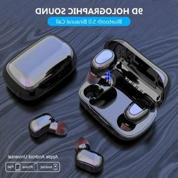 Bluetooth 5.0 Headset TWS Wireless Earphones Mini Stereo Hea