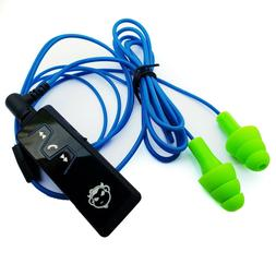 Bluetooth Workinbuds Green/Blue - Earplug Earphones With Wir