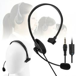 Earphone Portable Wired With Mic Single ear gamer Gaming Hea