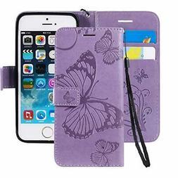 Ropigo Emboss 3D Butterfly Wallet Case for iPhone 7 & iP