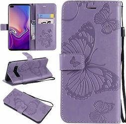 Cmeka Emboss Butterfly Wallet Case for Samsung Galaxy S10 20