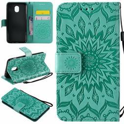 Ropigo Emboss Sunflower Wallet Case for Samsung Galaxy J3 20