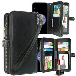 Galaxy S9 Plus Case, Harryshell Luxury 11 Card Slots Mirror