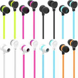 iLuv IEP334 Neon Color Stereo Earphones, Tangle-Resistant Fl