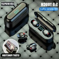 IPX6 Bluetooth 5.0 Headset TWS Wireless Earphones Mini Earbu