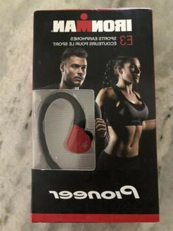 Pioneer IRONMAN Sweat-Resistant Sports Earphones, Red