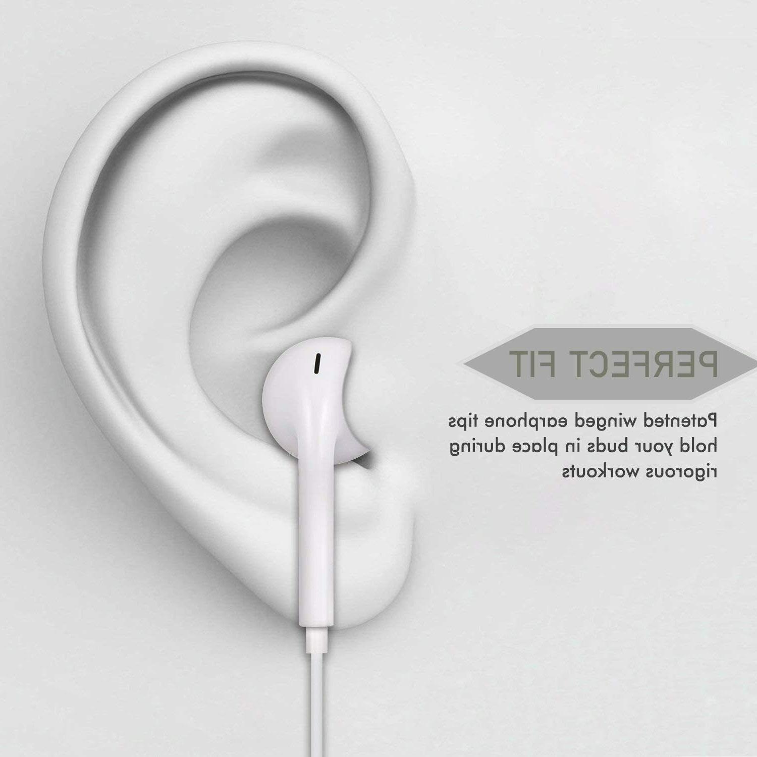 2 Earbuds 3.5mm Wired Isolating White