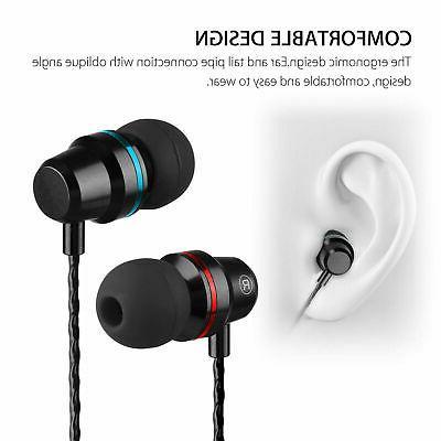 3.5mm Headset Earphone Stereo Earbuds Mic