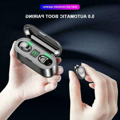 Bluetooth 5.0 Earbuds Earphones TWS Stereo Bass Headphones