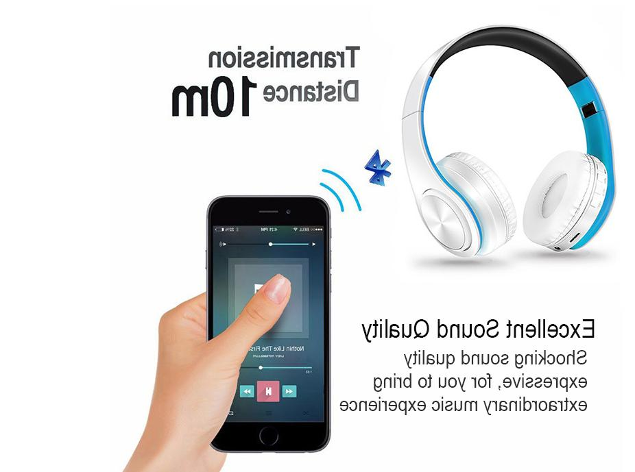 Super Bluetooth Headphones Foldable Stereo Earphones Headsets Mic