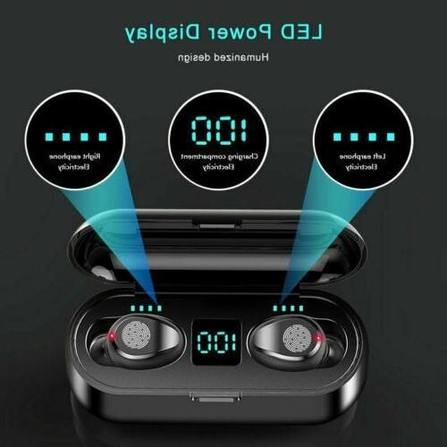 Bluetooth 5.0 TWS Earphones Headset Headphone Twins Earbuds