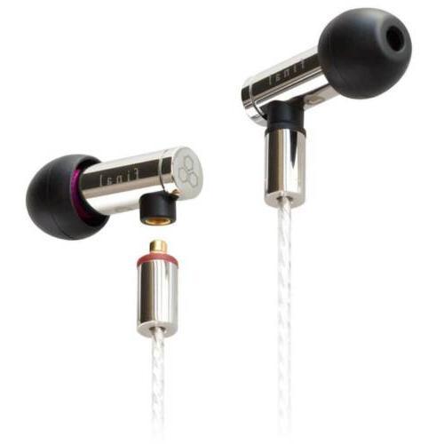 e5000 hi res earphones silver