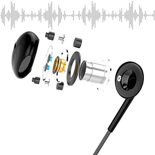Earphones Premium Earbuds Stereo and Noise Isolating for iPhone iPad Samsung LG HTC