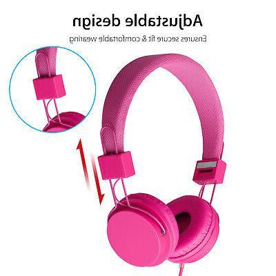 Kids Headphones Kids Earphones Pink iPad/Tablet