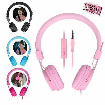 Kids Wired Headphones Earphones for iPad/Tablet