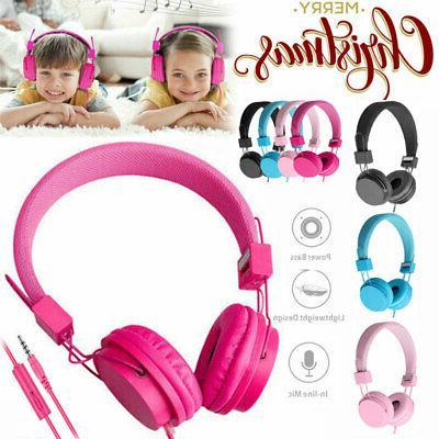 kids over wired ear headphones headband kids
