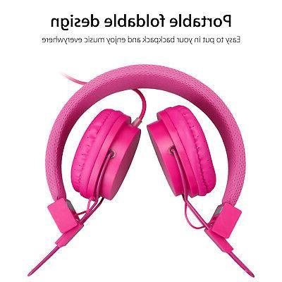 Kids Headphones Earphones Pink