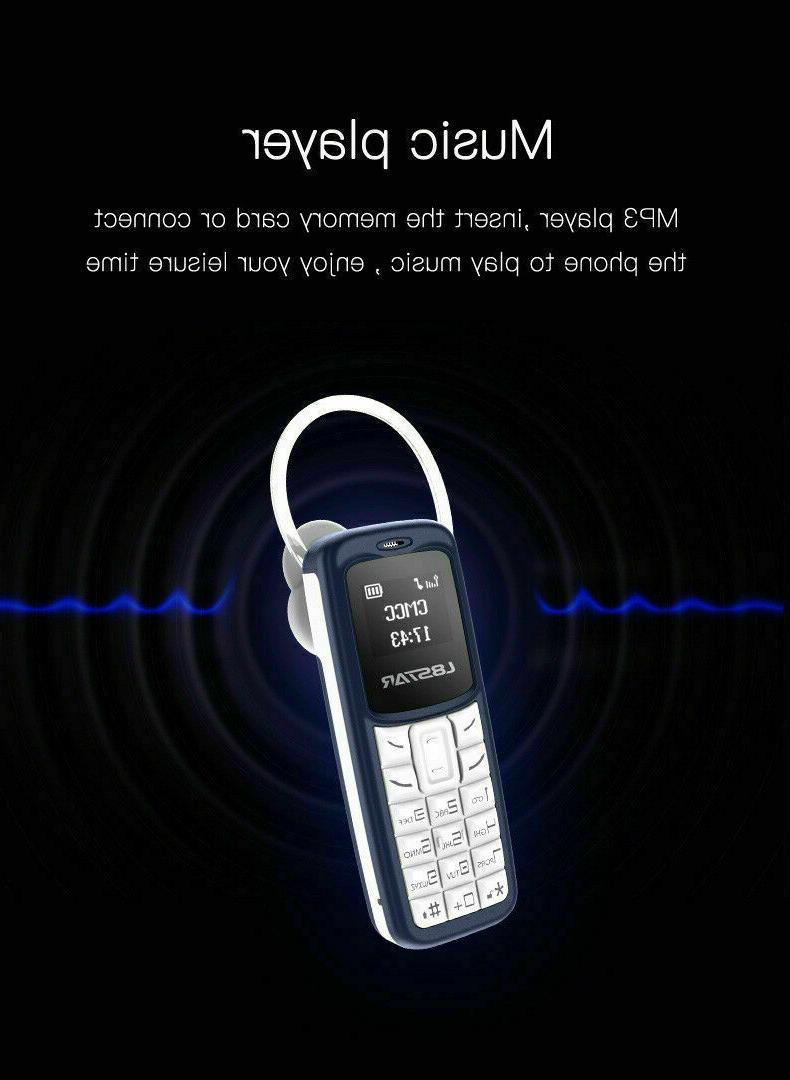 Mini Small Mobile Phone Dialer CellPhone Earphone Headset
