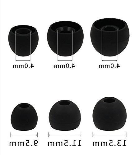 ALXCD Ear & Clips for Earphone, Double/Triple Silicone Eartips
