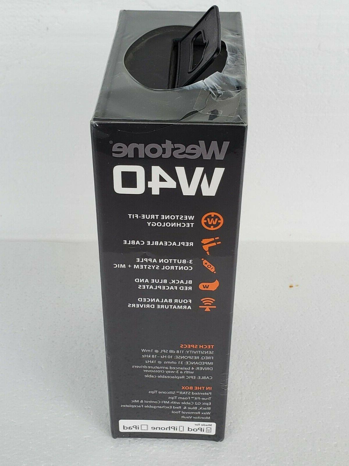 Sealed Westone W40 CK5246 Quad-Driver Isolating  See Description