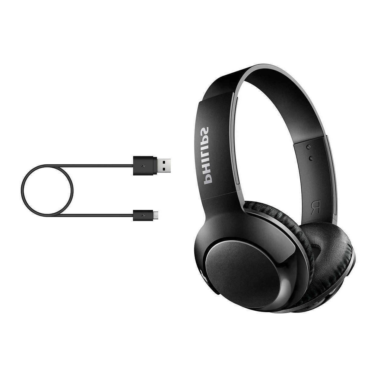 Philips Shb3075 Extra Bass Bluetooth Wireless On Ear Headphones