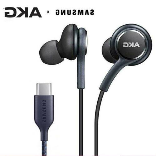 Samsung AKG Type-c Earphones USB Earbuds Wired In-ear HIFI H