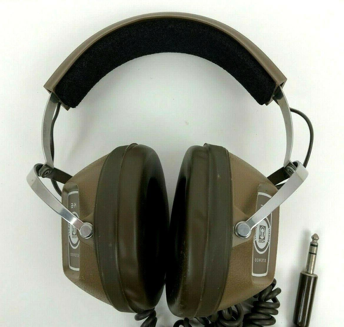 VINTAGE KOSS HEADPHONES Brown Earphones Works