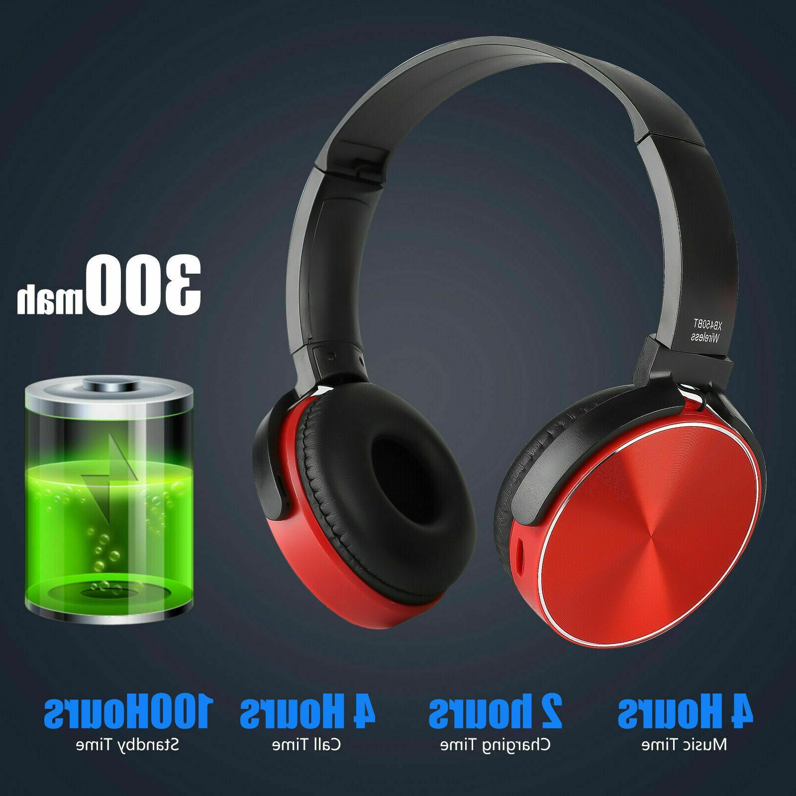 Super Wireless Bluetooth Headphones Foldable Stereo Headsets Mic