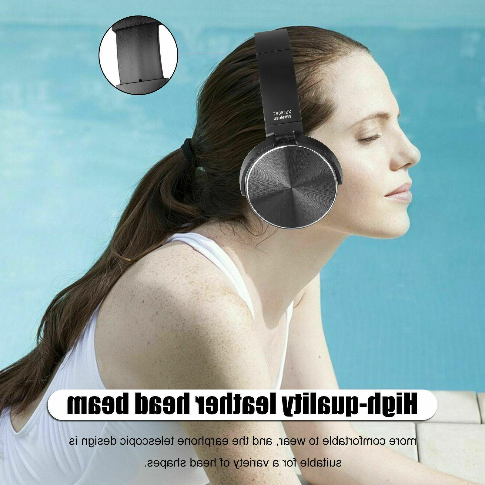 Super Bass Wireless Bluetooth Headphones Foldable Headsets Mic
