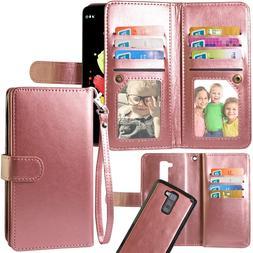 LG Stylo 2 Case,Harryshell Luxury 12 Card Slots Shockproof P