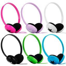 Lightweight Star On Ear Headphones Earphones for Girls Boys