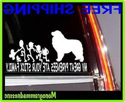 MY GREAT PYRENEES ATE YOUR STICK FAMILY VINYL DECAL STICKER