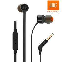 New JBL T110 In-Ear Headphones Earphones  Black