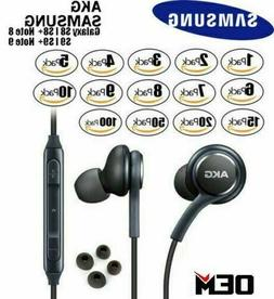 For NEW OEM Samsung S10 S9 S8+ Note 8 AKG Headphones Earphon