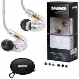 New SHURE SE215-CL Sound Isolating In-Ear Headphones Earphon