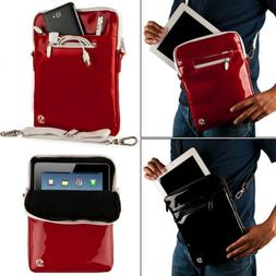 VanGoddy Patent Leather Tablet Sleeve Pouch Case Shoulder Ba