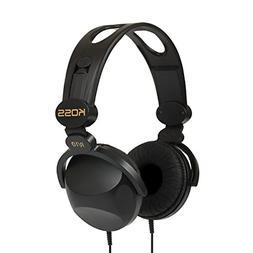 Koss R-10 On-Ear Headphones | Black | 8-foot cord | Lightwei