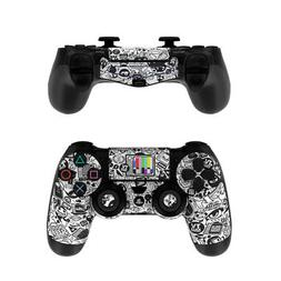 Sony PS4 Controller Skin Kit - TV Kills Everything - DecalGi
