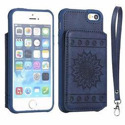 Cmeka Sunflower Wallet Case for iPhone 6 Plus/7 Plus/ 8 Plus