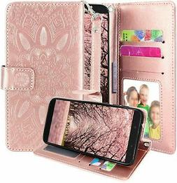 T-Mobile REVVL 2 Case, Harryshell Kickstand Flip PU Leather