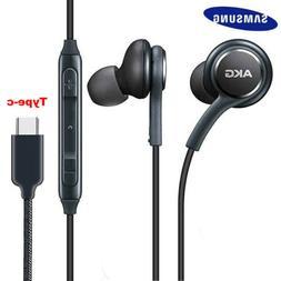 Type C Samsung Headphones Earphones Wired Headset For Galaxy