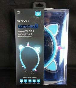 Hype Unicorn LED Wireless Earphones W/ Built in Microphone,