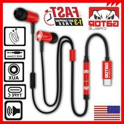 USB-C Connector Audio Earphones Headphones Earbuds Bass Ster