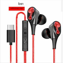 USB-C Type-C Stereo In-Ear Earphone Music Headset Earbuds He